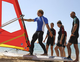 Free windsurfing lessons